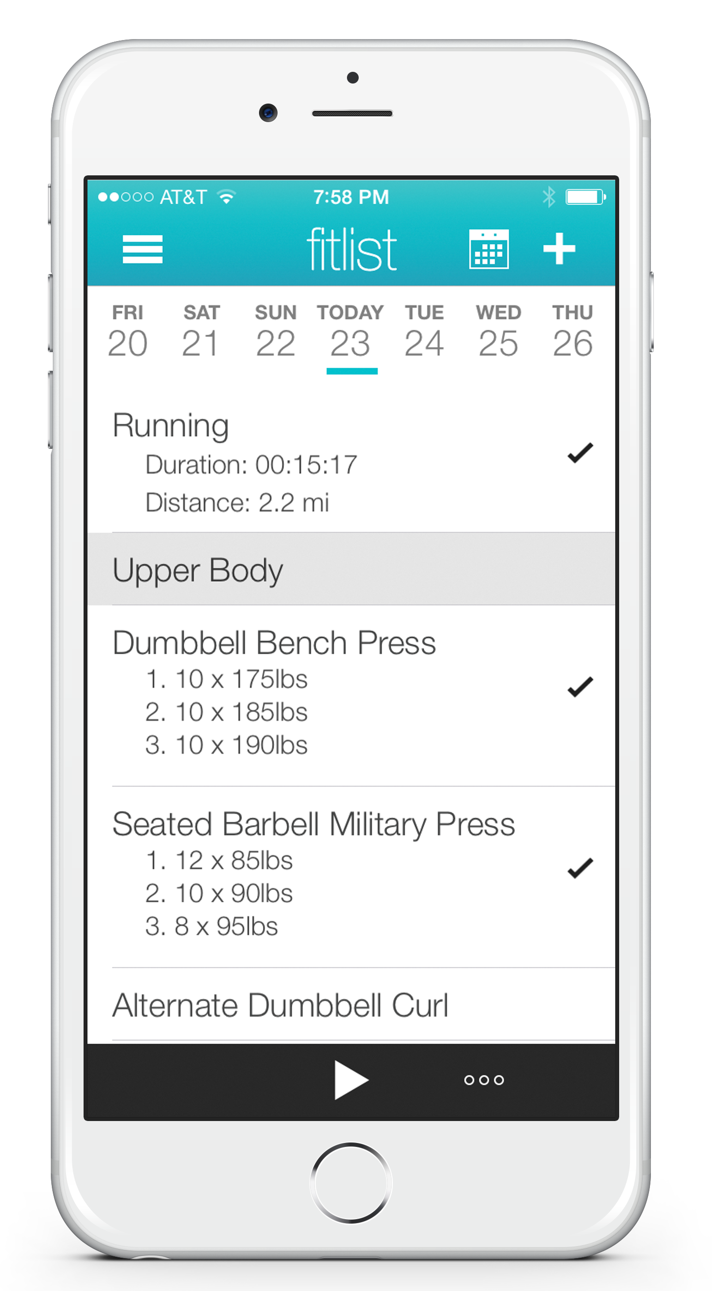 fitlist workout log app fitness tracker exercise journal with